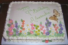 Sheet Cake Decorating Ideas | Sheet Cakes and a Wedding Cake