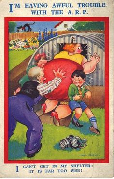 poster Anderson Shelter, Land Girls, Air Raid, Old Postcards, Shelters, Looking Back, World War Ii, Kids Playing, Ww2