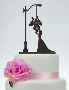 Spider-Man Cake Topper mariée et Silhouette par SpecialDesignForYou