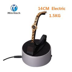 32.91$  Watch here - http://aliclt.shopchina.info/go.php?t=32730132769 - 140x42mm with LED Light Diameter Black Heavy Duty Rotating Display Stand Rotary Turntable with (1.5KG Centric Loading) 110~220V 32.91$ #magazineonlinewebsite