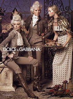 Dolce & Gabbana F/W 2006 by Steven Meisel (Iselin Steiro, Gemma Ward, Julia Stegner)