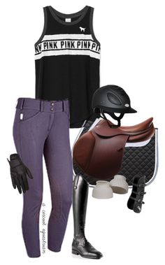 """vs pink&ts is my fave"" by a-circuit-equestrian on Polyvore featuring Biarritz"