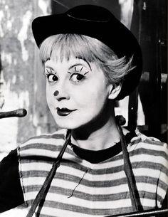 Giulietta Masina ne La strada di Fellini