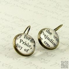 15. #Pride and Prejudice #Earrings - 30 Book-Themed #Accessories ... → #Books #Comic