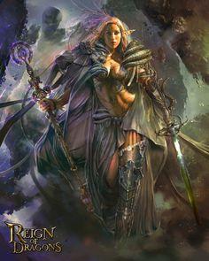 Goddess of Time  ,  by Pablo Fernandez    ,  card illustration http://reignofdragons.wikia.com/wiki/Nemosy_the_Antiquity