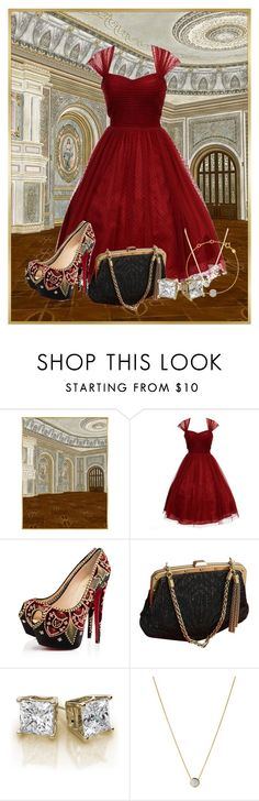 """Vintage Ball"" by ggmusicista on Polyvore featuring Unique Vintage, Christian Louboutin, Gucci, Links of London and vintage"