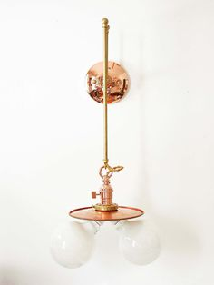 Copper Wall Sconce Wall Fixture Pendant by DLdesignworks on Etsy