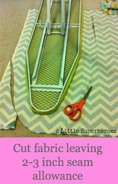 Add some charm to your sewing room by creating a simple DIY ironing board cover. Perfect use for your leftover fabric scraps. Love looking at this cover in my sewing room. Sewing Hacks, Sewing Tutorials, Sewing Crafts, Sewing Projects, Sewing Patterns, Sewing Tips, Sewing Ideas, Basic Sewing, Hand Sewing