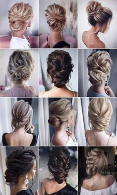 stunning bridal updos wedding hairstyles hair updos 26 Gorgeous Updo Wedding Hairstyles from tonyastylist - Page 2 of 2 Bridal Hair Updo, Wedding Hair And Makeup, Wedding Updo, Hair Makeup, Nails For Wedding, Hair Styles For Wedding, Low Bun Wedding Hair, Mauve Wedding, Prom Hair Updo