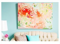 Gorgeous #AbstractPainting with Bright, Happy Colors