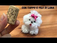 Cagnolino pucciosissimo con tappo di sughero e filo di lana - YouTube Diy Crafts For Adults, Yarn Crafts, Diy For Kids, Crafts To Make, Preschool Crafts, Crafts For Kids, Arts And Crafts, Yarn Animals, Cute Couple Gifts