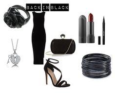 """""""Back in Black"""" by livvy-angel on Polyvore featuring James Perse, Carvela Kurt Geiger, Stila, Diane Von Furstenberg, ABS by Allen Schwartz and BERRICLE"""