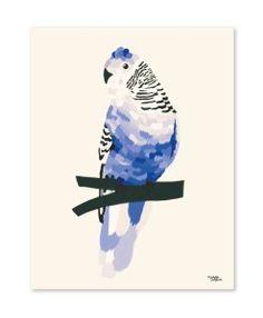 Blue bird plakat af michelle carlslund