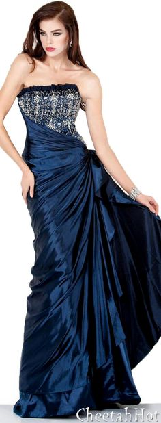 JOVANI - Stunning Deep Blue Gown  wish I had somewhere to go where I could wear this...