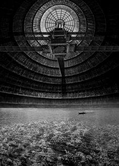 The Reef of Silence Underwater Columbarium & Decompositorium Columbarium & Coral Cultivation - Photomontage 420 x 594(mm) Yunil Nam, Unit 18, MArch Architecture Part II, University of Greenwich