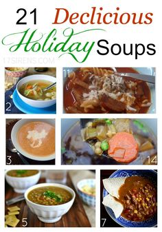 101 Healthy Soup Recipes .:.:. 21 Delicious #Holiday Soups