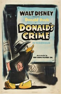 Theatrical poster of Donald Duck in Donald's Crime.