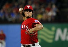 Yu Darvish pitches in the fifth inning against the Tigers Friday, Aug. 12, 2016, in Arlington. (AP Photo/Tony Gutierrez)