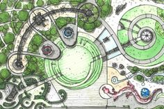 Pictures Of Landscaping – Using Other Peoples Ideas To Design Your Landscape Landscape Model, Landscape Architecture Drawing, Architecture Concept Drawings, Landscape Design Plans, Landscape Concept, Garden Design Plans, Urban Landscape, Urban Design Concept, Urban Design Diagram