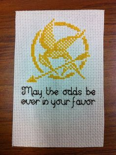 Hunger Games cross stitch (free pattern)