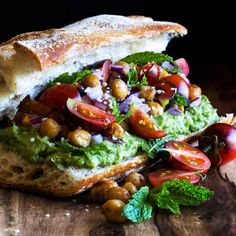 Vegan Garam Masala Roasted Chickpea Sandwich