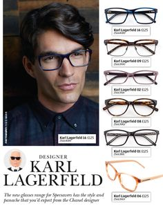 3c10370822e The new Karl Lagerfeld glasses range from Specsavers