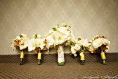 Found on Weddingbee.com Share your inspiration today!---- Luci did this at her wedding. It was really fun to make your own bouquet with all the hectic running around right before we all walked out