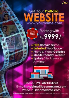 Get Portfolio Website with FREE Domain Name