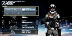 Battlefield 3 loadout hud