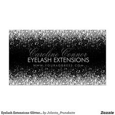 Eyelash Extensions Glitter Star Rain Business Card