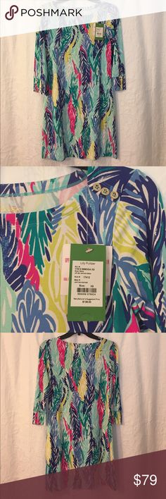 Sophie Dress in Multi Light as a Feather, SZ XS Lilly Pulitzer Sophie Dress, Brand New With Tags! UPF 50 dress, great material and flattering cut. Great day dress or cover up. Lilly Pulitzer Dresses