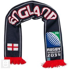 England - Rugby WC 2015 Scarf Ideal Gift for all Rugby Fans Scarf Dimensions x approx Brand New with Tags - Header Card Official Licensed Irb Rugby, Rugby World Cup, Header, Fans, England, Brand New, Gift, Shopping, Fashion