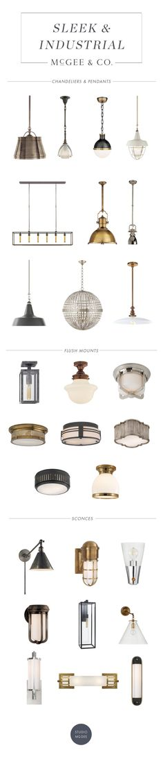 Sleek & Industrial Lighting Guide - Studio McGee