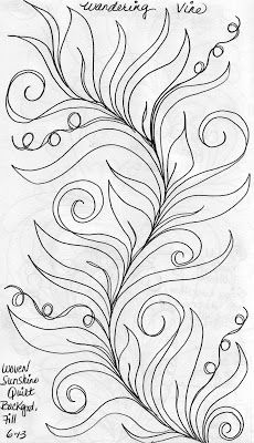 LuAnn Kessi: Sketch Book....Wandering Vine Background Fill