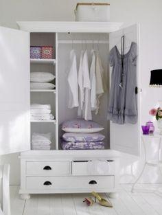 Vintage white wardrobe