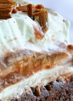 wow recipes: Brownie Refrigerator Cake