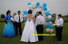 This website is full of ridiculous weddings. I mean ridiculously tacky weddings. My, oh my.