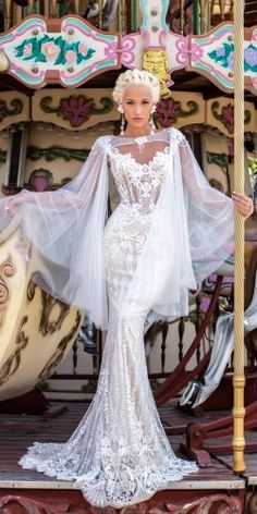 mermaid lace cap sleeves sweetheart neckline with capes wedding dresses daria karlozi 2018 wedding dresses naive lavender