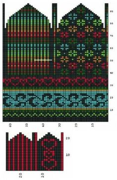 Designer Knitting Patterns, Fair Isle Knitting Patterns, Knitting Charts, Loom Knitting, Knitting Socks, Knitted Mittens Pattern, Sweater Mittens, Crochet Mittens, Wrist Warmers