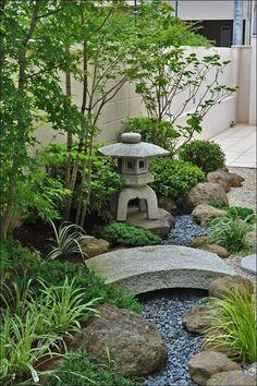 Japanese Garden Backyard, Japanese Garden Landscape, Small Japanese Garden, Japanese Garden Design, Home Garden Design, Modern Garden Design, Backyard Garden Design, Diy Garden, Backyard Landscaping