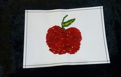 Craft .  Apple made out of brush cleaner.