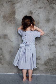 Handmade Striped Cotton Dress | TinyBunnyKids on Etsy