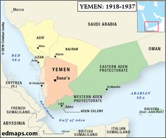 Geopolitics: The Yemeni Crisis In Five Map.: 1918-1937 . Their resource website contains maps that are designed to be useful to students, teachers and general enthusiasts in the study of History, Geopolitics and International Relations All the maps available on edmaps.com have been created by Dr. Cristian Ionita, a Canadian historian and cartographer from Montreal. The following is a report from The World On The Map outlining the surmounting conflict in Yemen, beginning in the early 1800's…