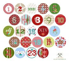 Printable Advent numbers - T Noel Christmas, Christmas Countdown, Little Christmas, All Things Christmas, Xmas, Christmas Activities, Christmas Printables, Easter Calendar, Advent Calenders