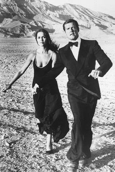 Barbara Bach and Roger Moore in James Bond: The Spy Who Loved Me