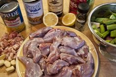 all kinds of recipes for wild game!!