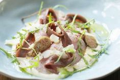 Vitello Tonnato Recipe, French Food, Potato Salad, Delish, Food And Drink, Cooking Recipes, Beef, Meals, Healthy