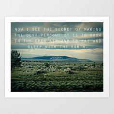 Walt Whitman: Earth Art Print by Leah Flores