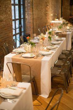 rustic country kraft paper wedding table runner
