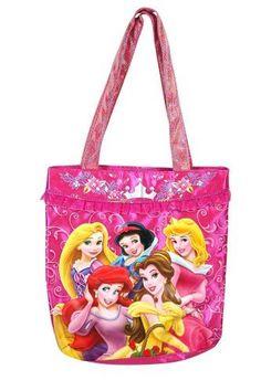 Disney Princess Satin Tote Bag with Glitter Handle
